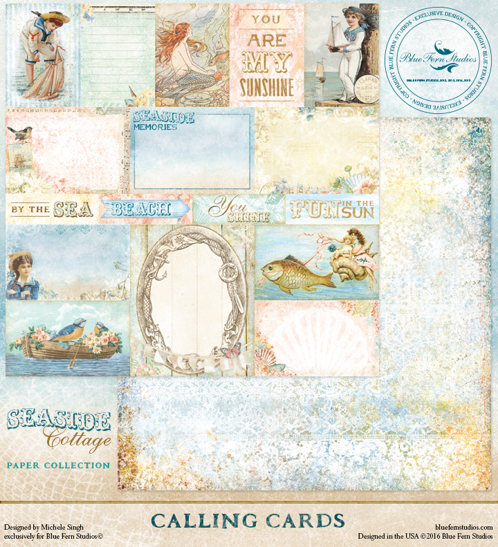 Seaside Cottage - Calling Cards