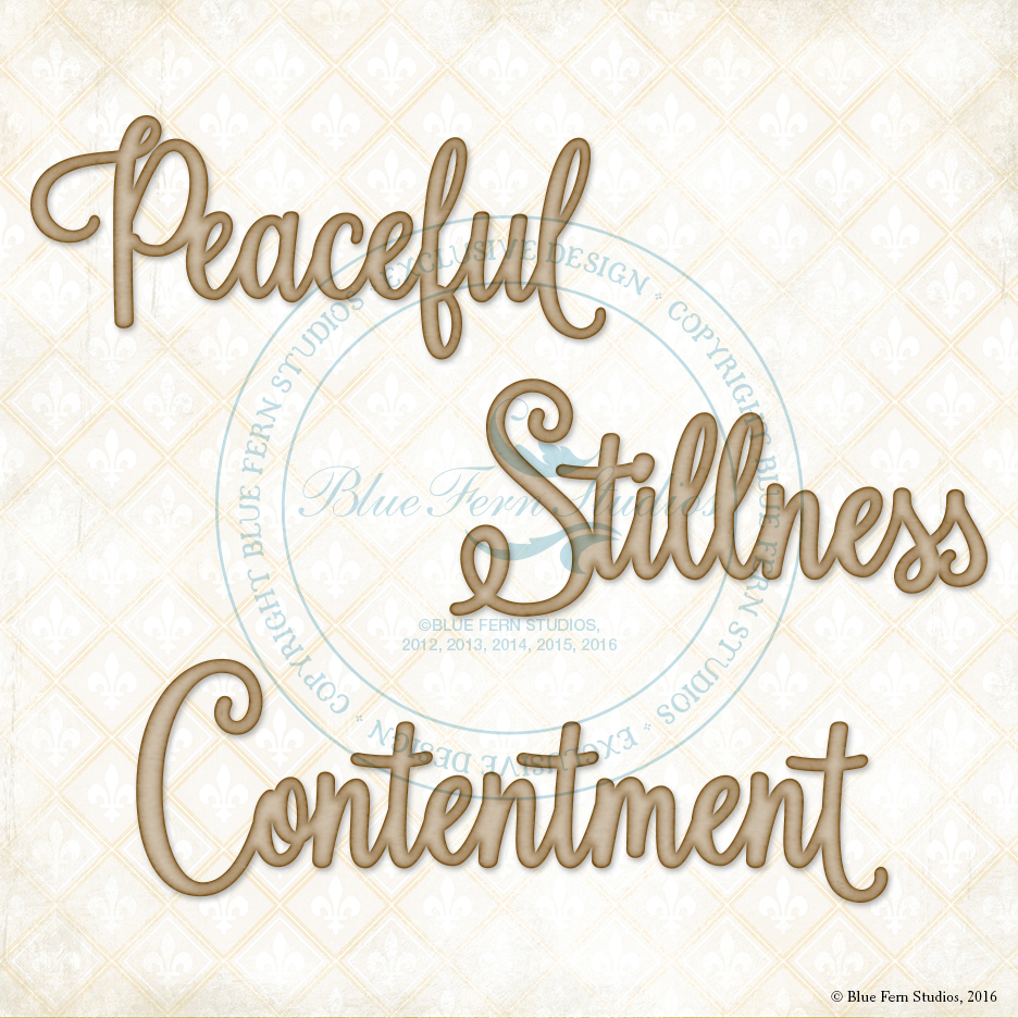 Peaceful, Stillness, Contentment